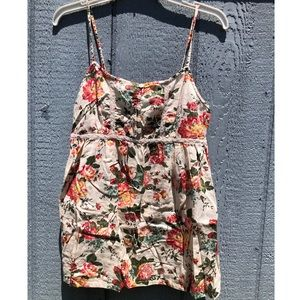 Floral Tank Top with Buttons
